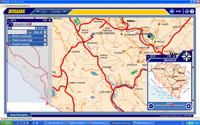 Bosznia autó térkép